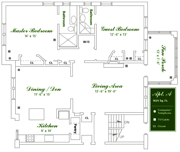Willowwood Apartments - Floor Plan A