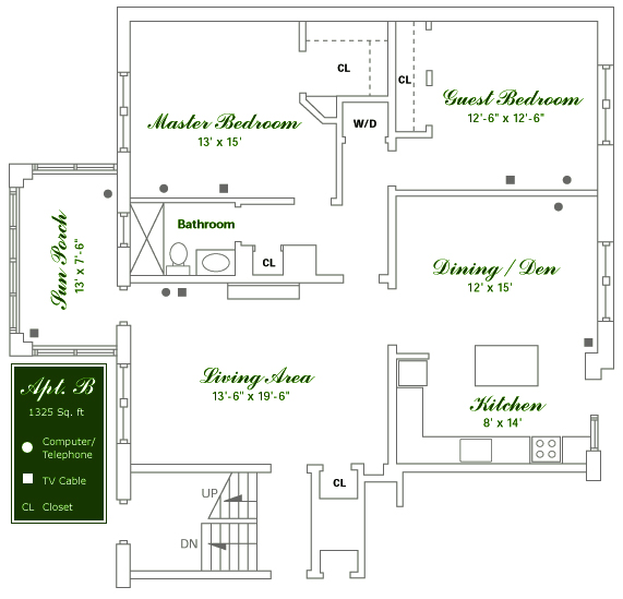 Willowwood Apartments - Floor Plan B